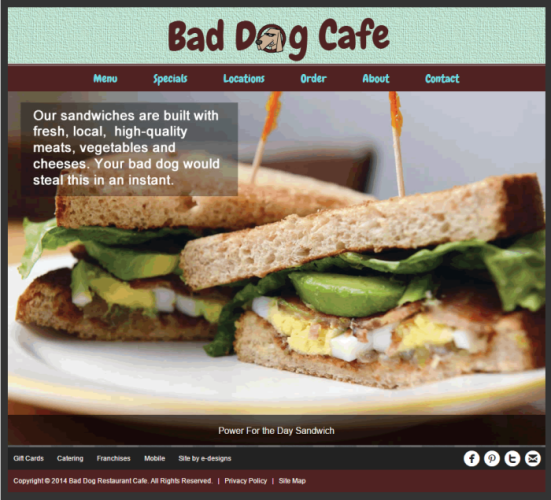 bad dog cafe website