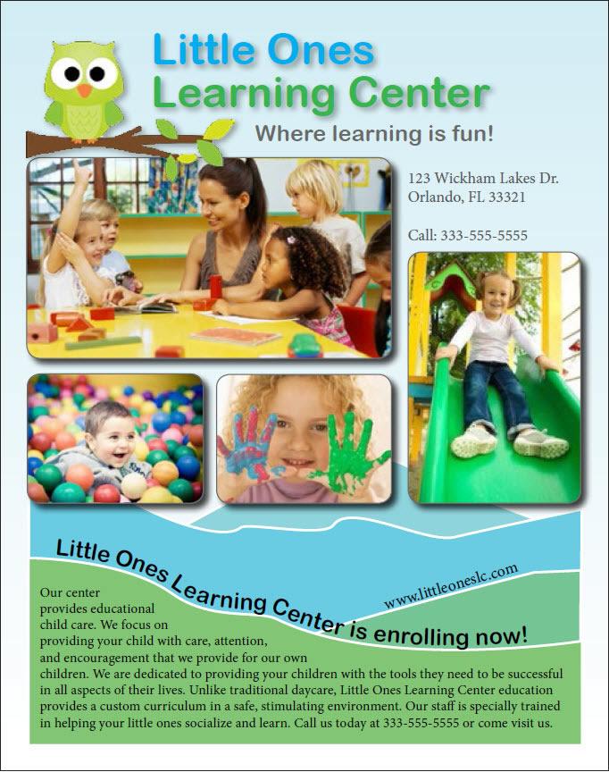 learning center brochure
