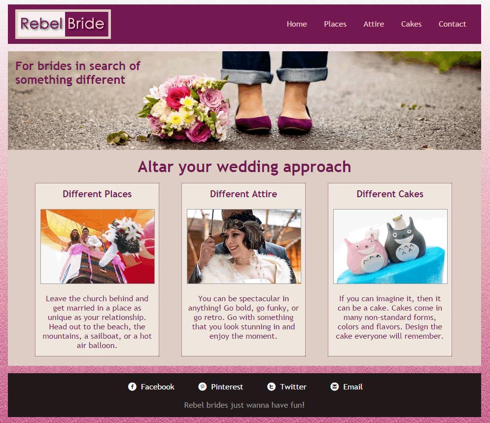 rebel bride website